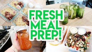 FRESH + HEALTHY MEAL PREP! 🍅 HOMEMADE MARINARA SAUCE 🥒 DILL PICKLES 🍁 AUTUMN CRUNCH SALAD