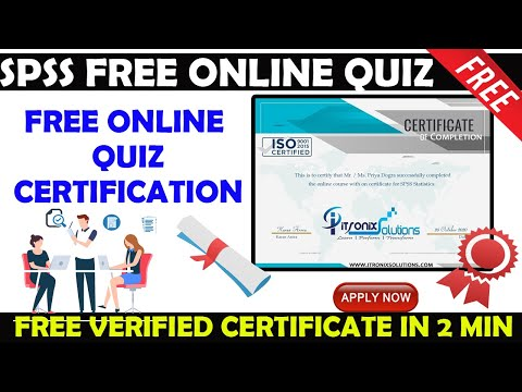 SPSS Statistics Free Online Quiz - SPSS Level 1 Free Certificate ...