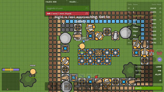 Zombs.io -  TIER 6 FORTRESS VS ZOMBIES 4M SCORE! 좀비스 아이오 ( IOGAMES ROAST CHICKEN )