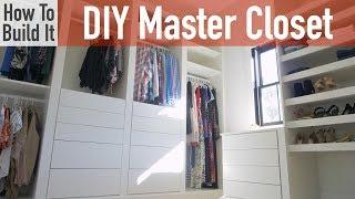 DIY Modular Master Closet