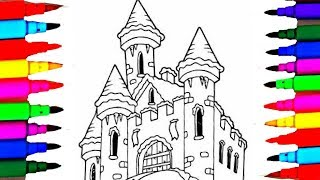 Learn Colors L Winter Kids Castle Coloring Pages Books Drawing For