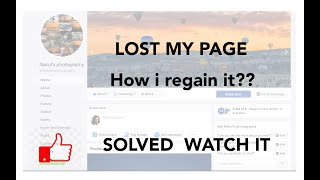 HOW TO REGAIN YOUR FACEBOOK PAGE AS ADMIN... SOLVED