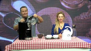 Rosenstein & Söhne Kaffeemaschine KF-615 mit Mahlwerk und Timer
