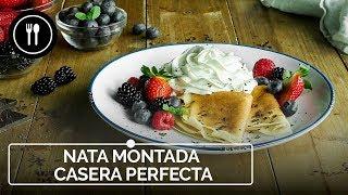Receta para una NATA MONTADA CASERA PERFECTA | Instafood