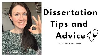 Tips for starting and writing your Dissertation