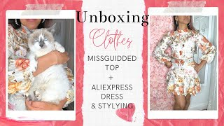 Missguided Blue Lace Top & AliExpress Dress