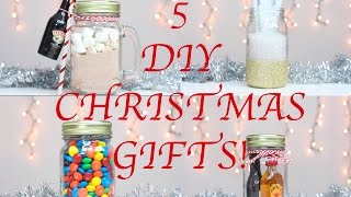 5 DIY Last Minute Christmas Gifts Using A Mason Jar!