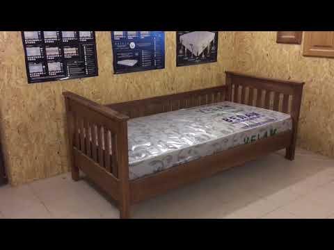 Односпальная кровать. Ольха. Простой дизайн.