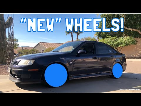 "Swapping ""New"" Wheels on My Saab 9-3!"