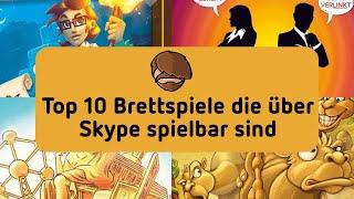 Crons Top 10 Brettspiele die über Skype spielbar sind
