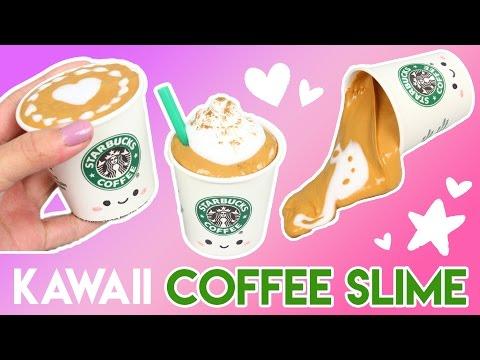 How to Make Kawaii Coffee Slime with REAL Coffee (No Borax)!