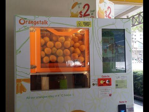 Orange Juice from Vending Machine!