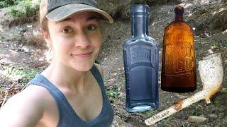 Hunting For Treasure & Old Bottles   MissDetectorist