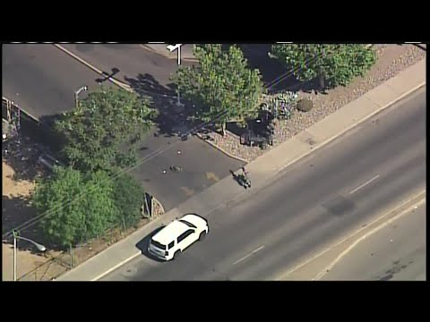 Sky 7 flies over police activity at Whataburger