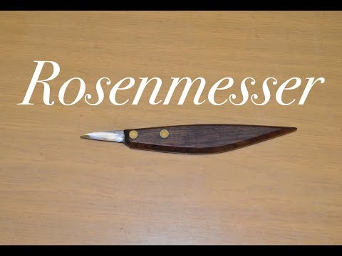 Rosenmesserform : Schnitzmesser