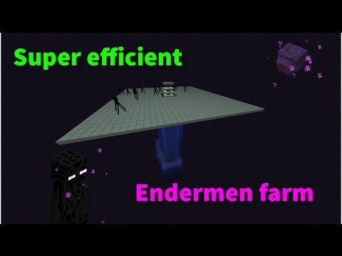 Super Efficient Enderman Farm - Kill them with TNT (1 8+) Minecraft