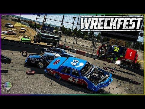 FIGURE 8 INSANITY! | Wreckfest | NASCAR Legends Mod