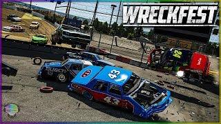 FIGURE 8 INSANITY!   Wreckfest   NASCAR Legends Mod