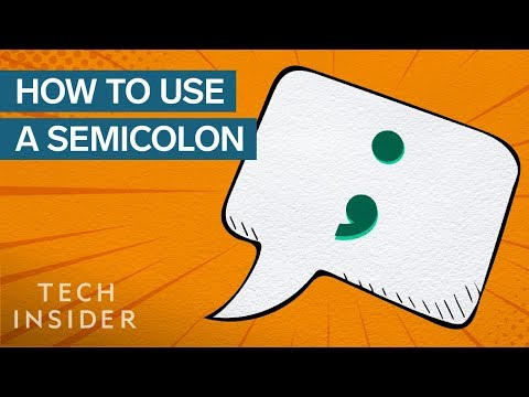 The Proper Way to Use a Semicolon