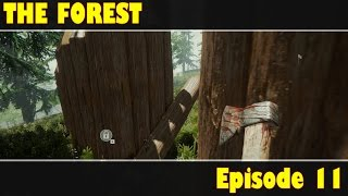 The Forest Episode 11: New Defensive Wall Gate!