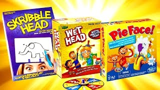 Best Kids Games Challenges. Board Games. Pie face challenge, Wet head, Scribble head, Face painting