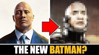 "Drawing DWAYNE ""THE ROCK"" JOHNSON as THE NEW BATMAN !?!"