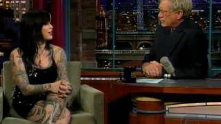 Kat Von D on The Late Show with David Letterman