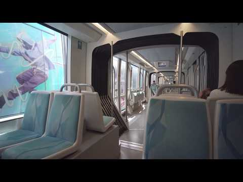 United Arab Emirates, Dubai, tram ride from Al Sufouh to Marina Towers + walk