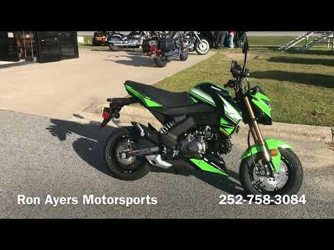 2018 Kawasaki Z125 Pro KRT Edition in Greenville, North Carolina - Video 1