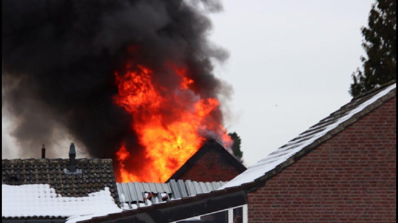 Incident update: Grote brand NL-Alert (woning) Tegelseweg – Venlo 15-02-2021 Brand Venlo vandaag