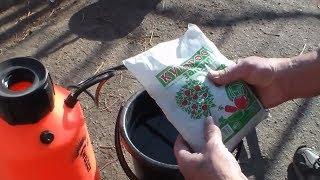 Обработка виноградника железным купоросом видео