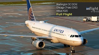United Airlines First Class Full Flight: Washington DC to Chicago O'Hare - Airbus A320
