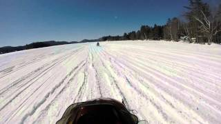 preview picture of video 'Lake Pleasant Snowmobile Ride March 12, 2015'