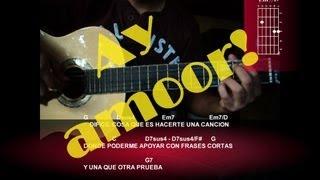 Como tocar Ay Amor de Fernando Delgadillo tutorial guitarra
