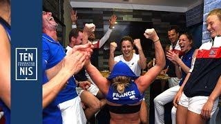 Fed Cup France-Roumanie la minute bleue n°8 : un dimanche de folie | FFT
