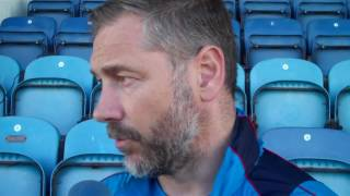 Assistant boss Scott Lindsey faced the press after our 20 loss at