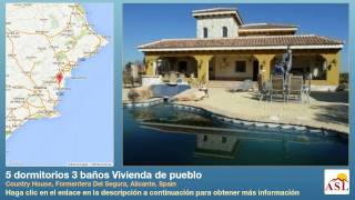 preview picture of video '5 dormitorios 3 baños Vivienda de pueblo se Vende en Country House, Formentera Del Segura, Alicante'