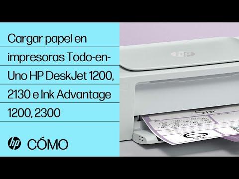 Cómo cargar papel en las impresoras Todo-en-Uno de las series HP DeskJet 1200 y 2130 e Ink Advantage 1200 y 2300