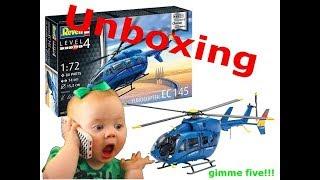 Unboxing EC 145 / 1/72 von Revell (DEU) / 03877