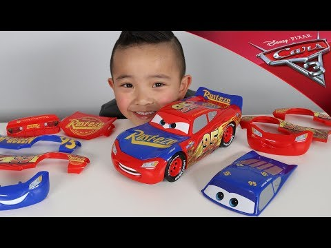 Change & Race Disney Cars 3 Toys Lightning McQueen Unboxing Fun With Ckn Toys