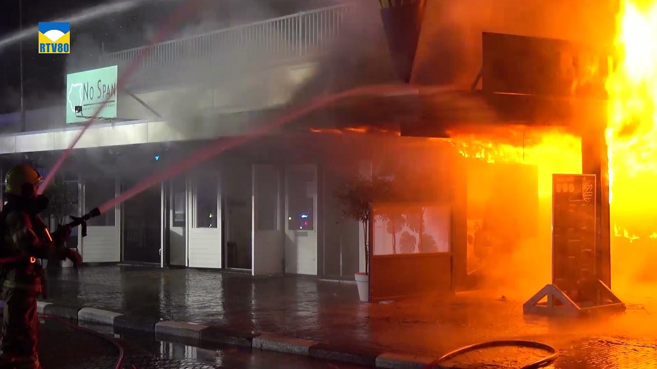 Zeer grote brand in het centrum van Bergen.