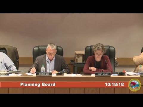 Planning Board 10.18.18