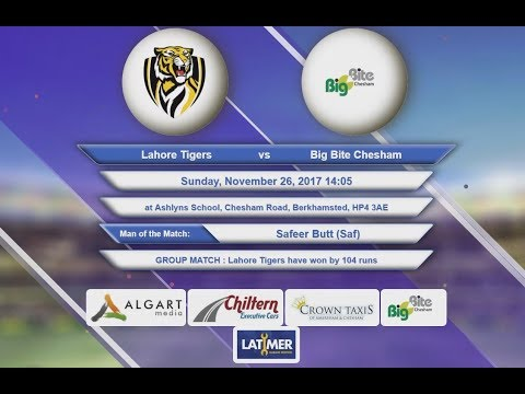 Video Lahore Tigers VS Big Bite Chesham - 26-Nov-2017