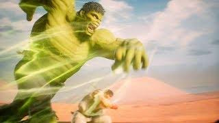 Hulk and Ryu vs Monster Hunter