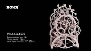 3D Puzzle Movement Assembled Wooden Pendulum clock - LK501 NEW