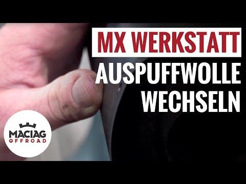 Motocross / Enduro Auspuff Dämmwolle wechseln | Maciag Offroad MX Werkstatt