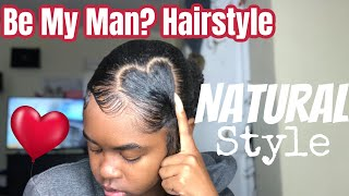 Slicked Natural Hairstyle (Super Easy)