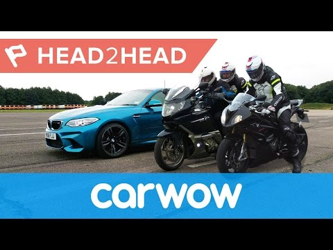 Car vs Motorcycle DRAG RACE with BMW M2 &  S1000RR | Head2Head