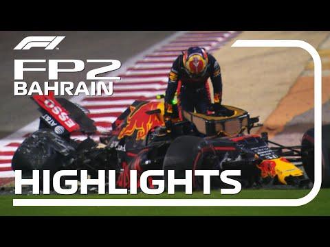 アルボンがクラッシュ!F1 バーレーンGP 金曜日に行われたフリープラクティス2動画