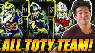 ALL 'TEAM OF THE YEAR' LINEUP! THIS TEAM COSTS WAY TOO MUCH! Madden 20 Ultimate Team